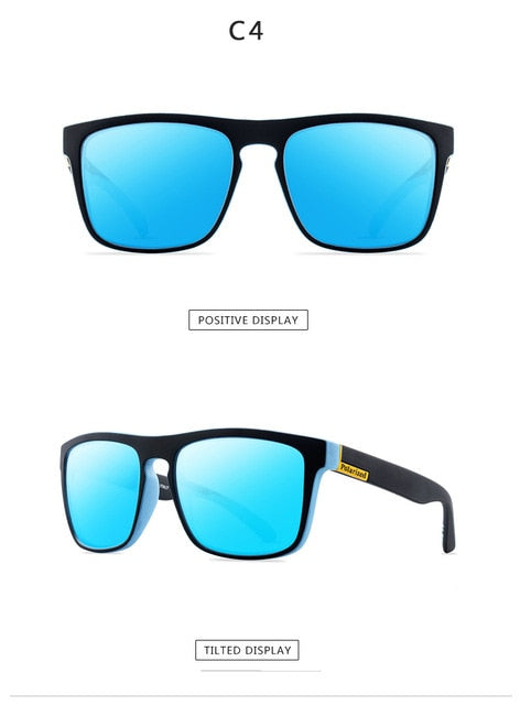 DJXFZLO 2020 New Fashion Guy's Sun Glasses Polarized Sunglasses Men Classic Design Mirror Fashion Square Ladies Sunglasses Men