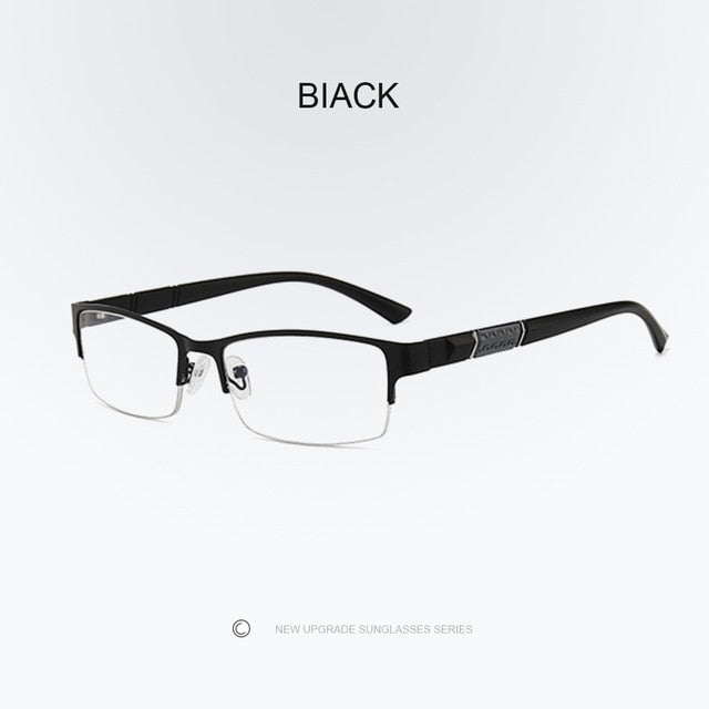 +1.0+1.5+2.0+2.5+3.0+3.5+4.0 Reading Glasses High Quality Half-frame Diopter Business Office Reading Glasses for Men and Women