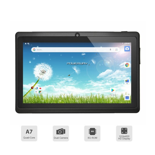 7-Inch Kids Learning Tablet Android 8.1 Quad-Core 1GB 16GB Tablet Without Leather Case The Best Gift For Child