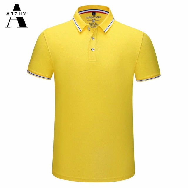 Casual Polo Shirt Men Fashion Solid Summer Brands Polo Shirts Women Breathable Golf Jersey Sports Polos Cotton 65% Polyester 35%