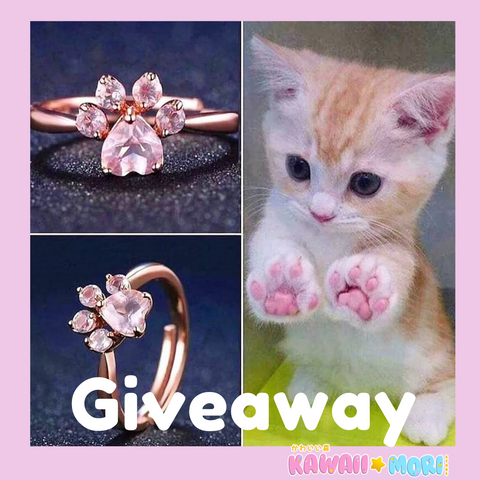 😻 Cat Paw Ring Giveaway 😻