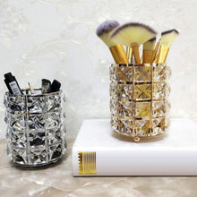 Load image into Gallery viewer, Luxury Faux Crystal Inlaid Cylinder Holder