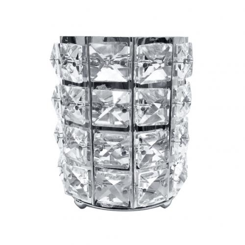 Luxury Faux Crystal Inlaid Cylinder Holder