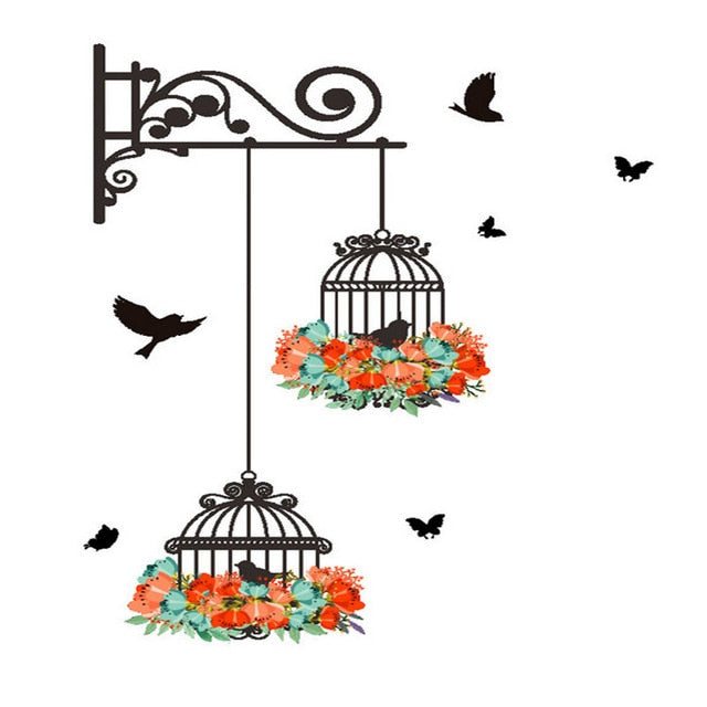 Living Room Garden Birdcage Wall