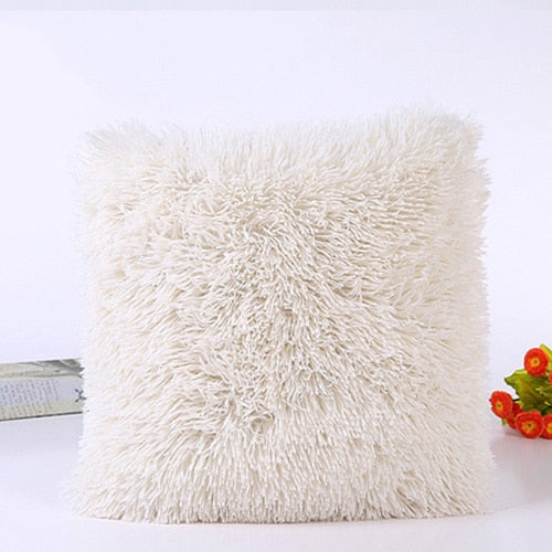 New Solid Soft Fur Plush Cushion