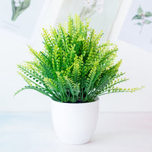 Load image into Gallery viewer, 1pc Artificial Plants Green Bonsai Small Tree Pot Plants Fake Flower Potted Ornaments for Home Decoration Craft Plant Decorative