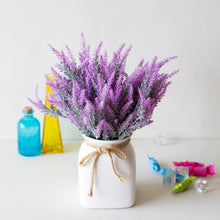 Load image into Gallery viewer, 1 Bundle Romantic Provence Lavender Wedding Decorative Flower Vase for Home Decor Artificial Flowers Grain Christmas Fake Plant
