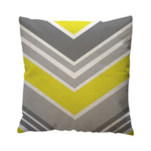 Load image into Gallery viewer, Yellow Geometric Pattern Throw Pillow