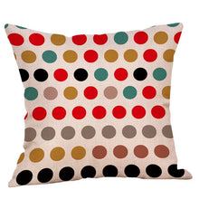 Load image into Gallery viewer, Geometric Printed Cotton Linen Pillow