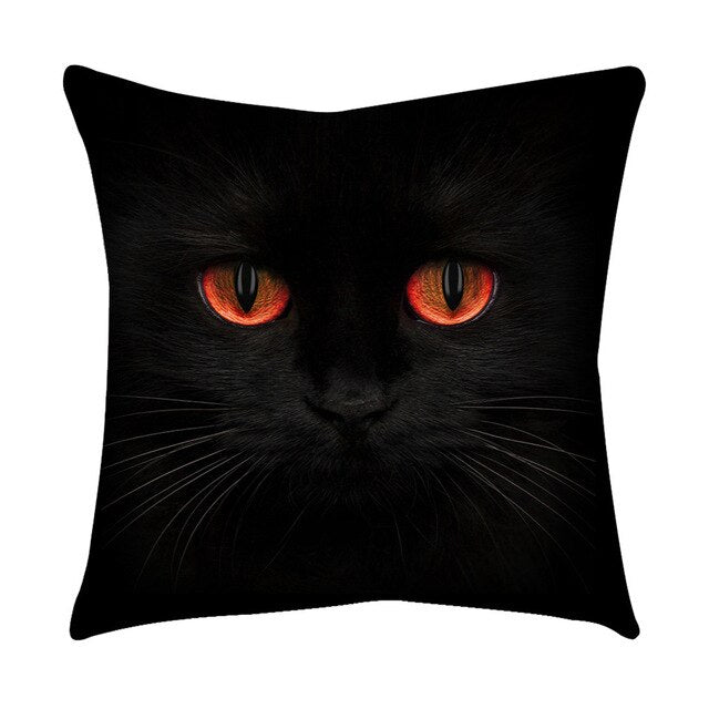 Rose Black Gold Cushion Cover