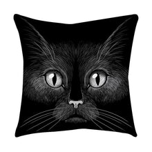 Load image into Gallery viewer, Rose Black Gold Cushion Cover