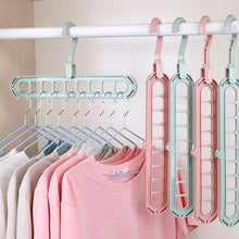 Load image into Gallery viewer, 9-hole Clothes hanger organizer