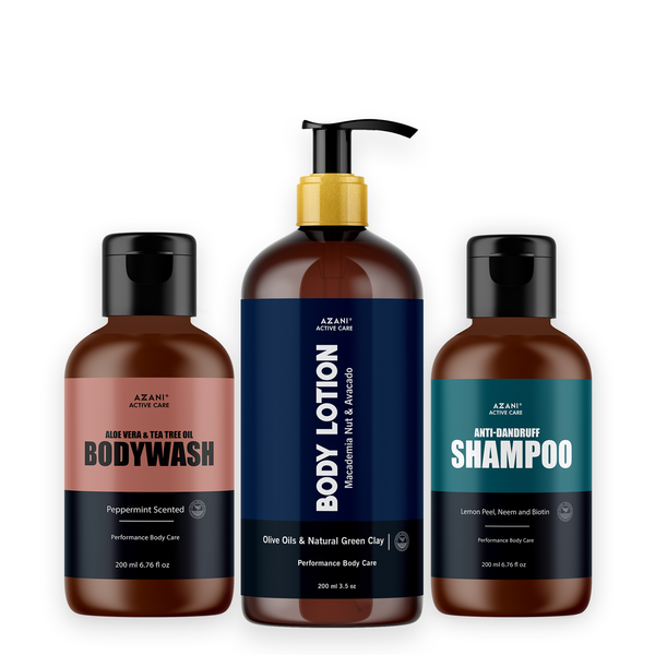 Body Lotion + Body Wash + Anti Dandruff Shampoo