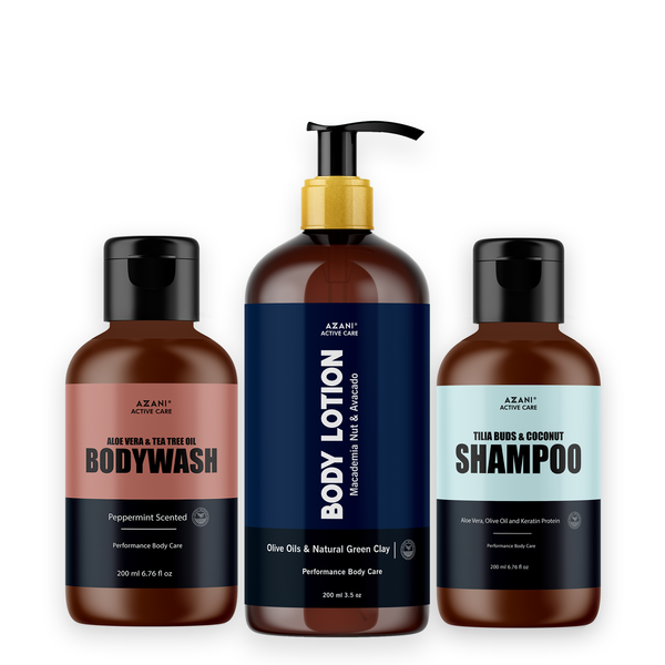 Body Lotion + Body Wash + Hydrating Shampoo