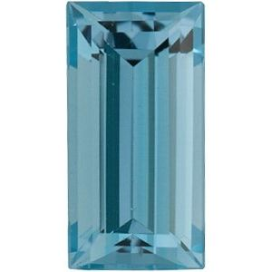 5x2 mm Straight Baguette Faceted AA Aquamarine