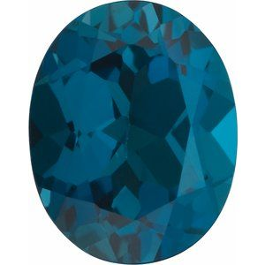 7x5 mm Oval Faceted AA London Blue Topaz