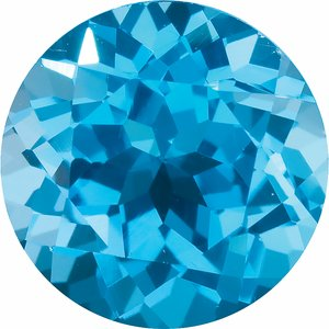 1.25 mm Round Faceted AA Swiss Blue Topaz