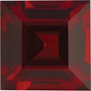 6 mm Square Step-cut AA Mozambique Garnet