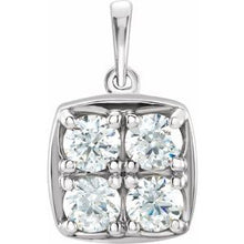 Load image into Gallery viewer, 14K White 1 CTW Round Cluster Pendant Mounting