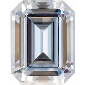 4x2 mm GH Emerald/Octagon Step-cut Stuller Lab-Created Moissanite™