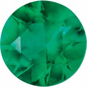 1.75 mm Round Diamond-cut AA Emerald
