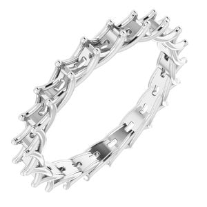 Continuum Sterling Silver 3x1.5 mm Straight Baguette Eternity Band Mounting