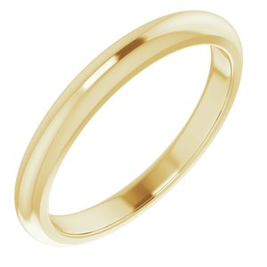14K Yellow Band for 3.5 mm Round Ring