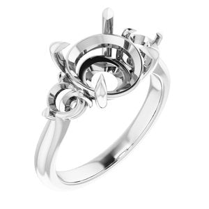 Continuum Sterling Silver 10 mm Round Engagement Ring Mounting