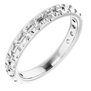 Continuum Sterling Silver 2.5 mm Round French-Set Anniversary Band Mounting