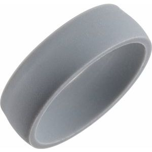 Gray Silicone 7 mm Dome Comfort-Fit Band Size 10