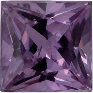 3x3 mm Square Princess-Cut AA Purple Sapphire