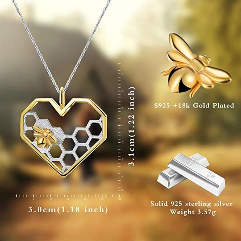 Love Heart HoneyComb Necklace