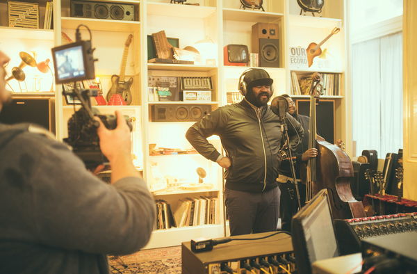 Gregory Porter at the Supersense Living Room Recording Studio