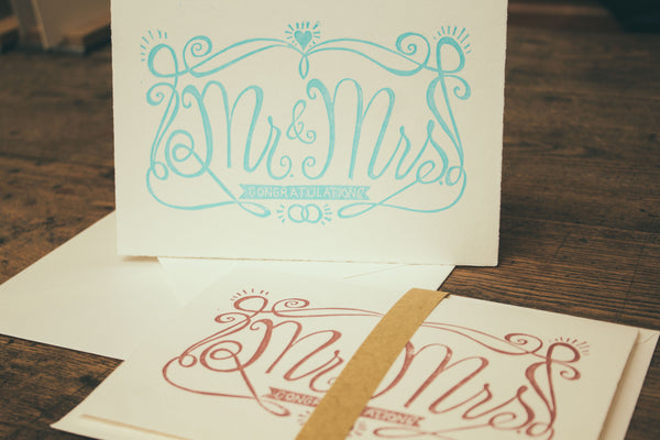 "Postcard ""Mr. & Mrs."""