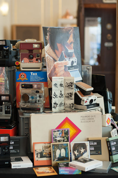 Vintage Polaroid Camera Selection