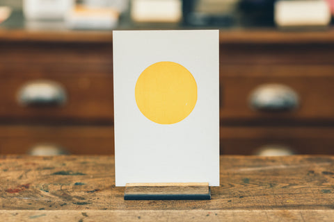 "Postcard ""Yellow Dot"""
