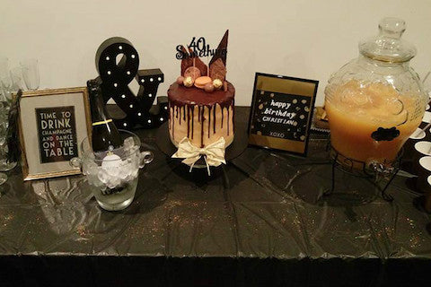 FEATURED PARTY - Surprise Black and White Birthday