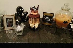 Black and white party spotlight from Sydney Event Planner Simply Celebrate