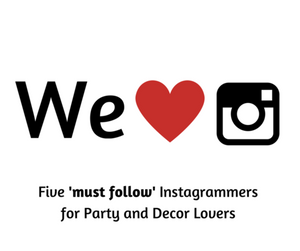 Five Instagrammers every Party Planner should follow