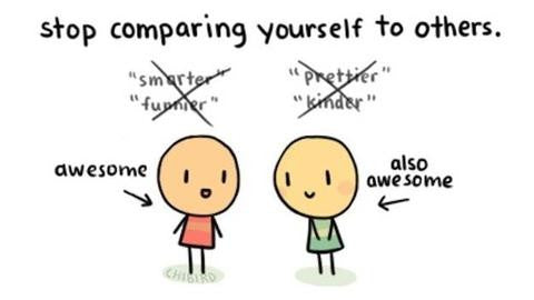You should STOP comparing yourself