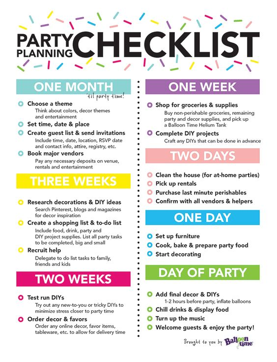 Party planning checklist | Party planning guide online | Simple party | Party Kit Company Australia