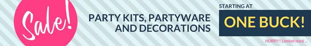 Discount party supplies online Sydney Australia from Party Kit Company