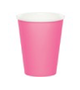 Pink paper party cup