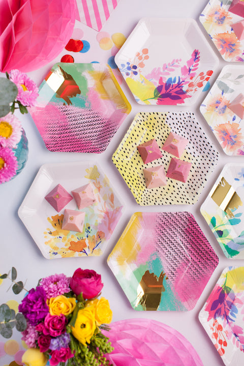 Fluoro Floral Party Kit from The Kit Source