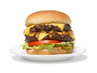 A delicious take on the famous In-N-Out burger, animal style.
