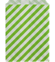 Lime striped treat bags