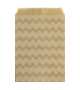 Kraft chevron paper party treat bags