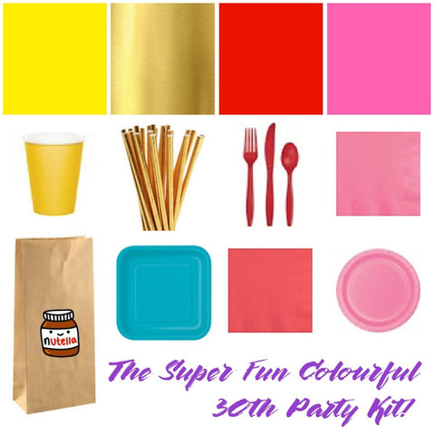 30th birthday party supplies from Party Kit Company