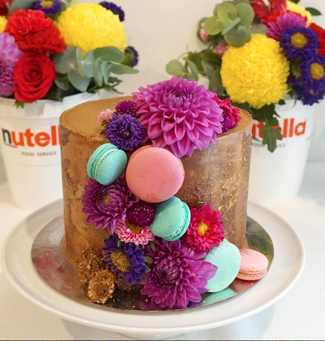 Nutella themed party cake from Hey There Sugar