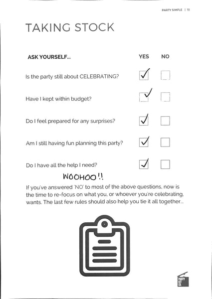 Checklist to make sure you're still enjoying party planning